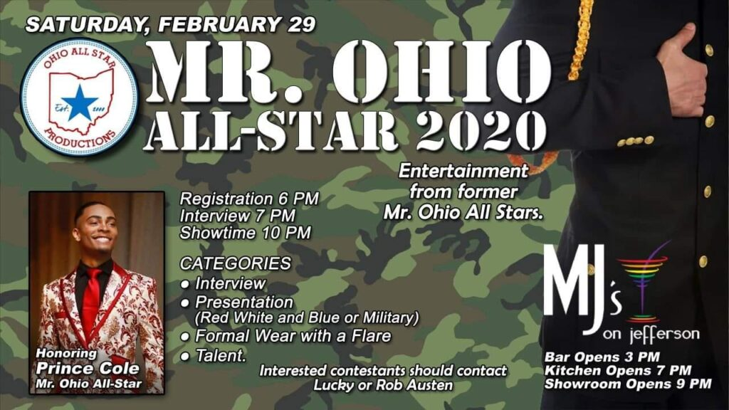 Ad | Mr. Ohio All-Star | MJ's on Jefferson (Dayton, Ohio) | 2/29/2020