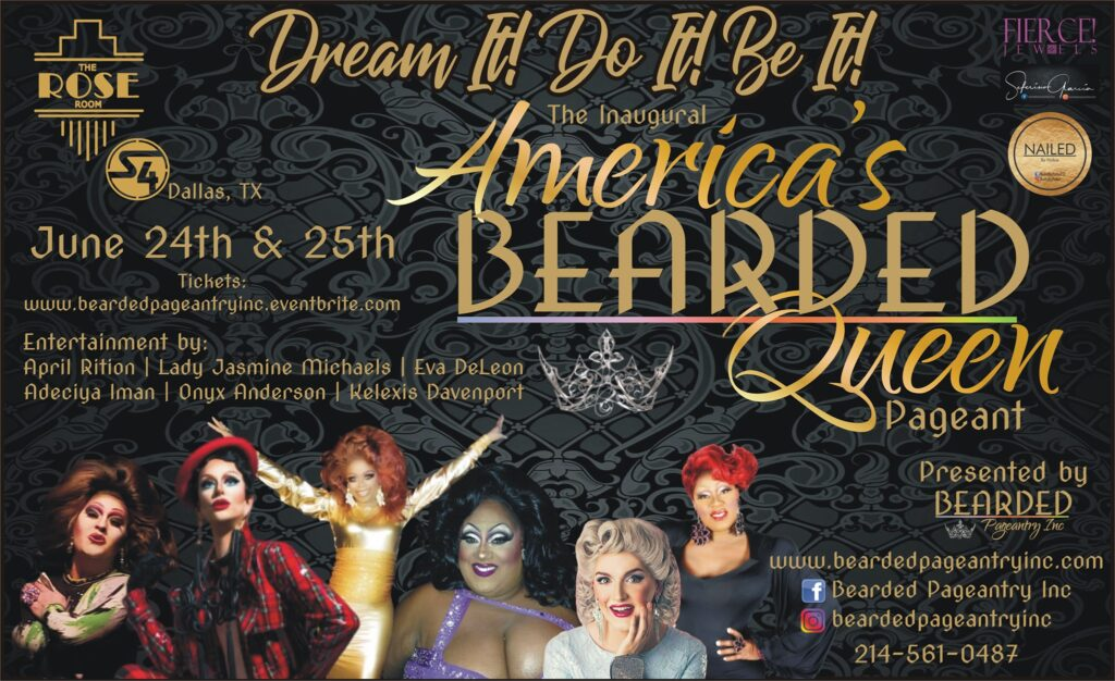 Ad | Bearded Queen | The Rose Room at Station 4 (Dallas, Texas) | 6/24-6/25/2020