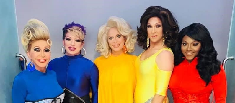 Danielle Hunter, Nina DiAngelo, Tiffany T. Hunter, Atheena Voce and Dominique Sanchez | Hamburger Mary's (St. Louis, Missouri) | June 2020 CROPPED