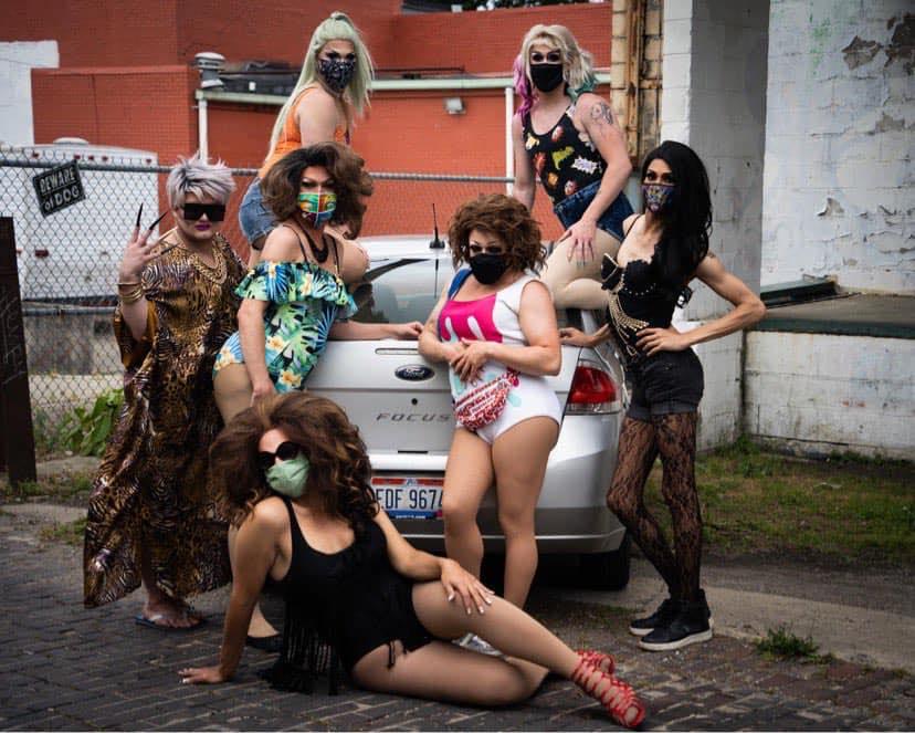 Top: Mimi Sharp and Soy Queen; Middle: Gia Metrix, Jennifer Lynn Ali, Mary Nolan and Sabrina Caprice Heartt; Bottom: Ava Aurora Foxx | Mary & Gary's Car Wash | Cavan Irish Pub (Columbus, Ohio) | 6/28/2020