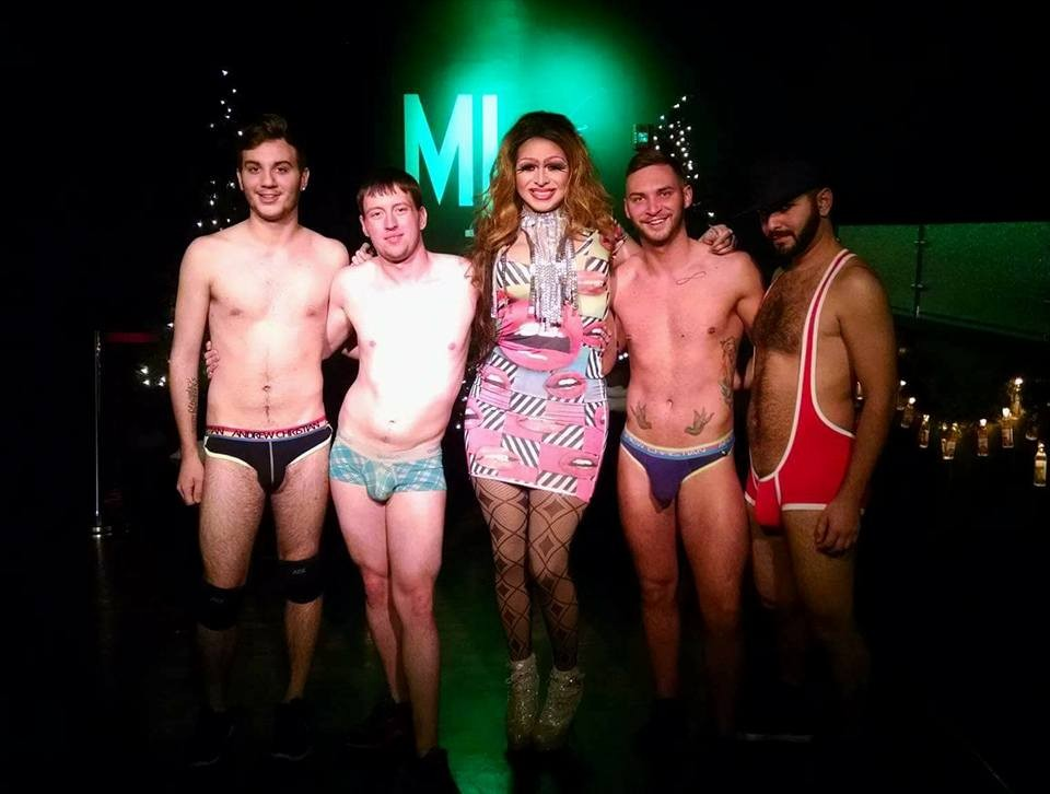 Jake Decardeza, unknown, Jade Sexton, Brock Bradly and Andy Candy | MJ's on Jefferson (Dayton, Ohio) | December 2015