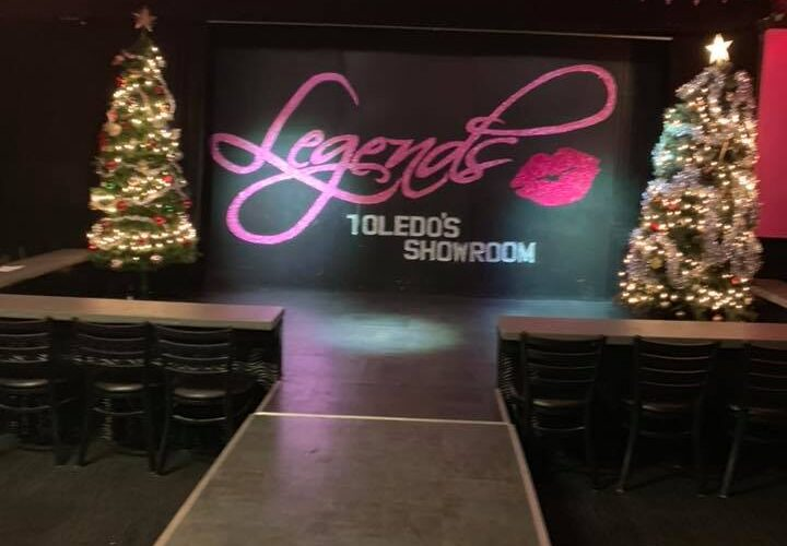 The stage at Legends | Legends Showbar (Toledo, Ohio) | December 2018