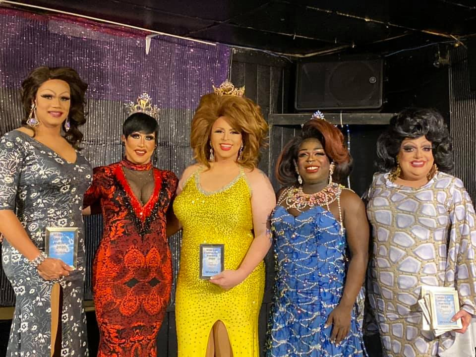 Kiley Dash-West, Courtney Kelly, Tasha Salad, Cherry Poppins and Tina Hightower | Miss Gay Capital City America | Southbend Tavern (Columbus, Ohio) | 2/22/2020