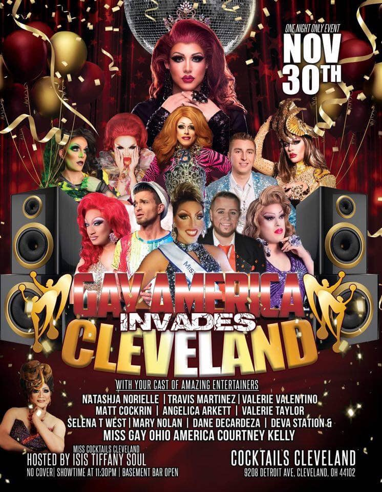Ad | Gay America Invades Cleveland | Cocktails (Cleveland, Ohio) | 11/30/2019