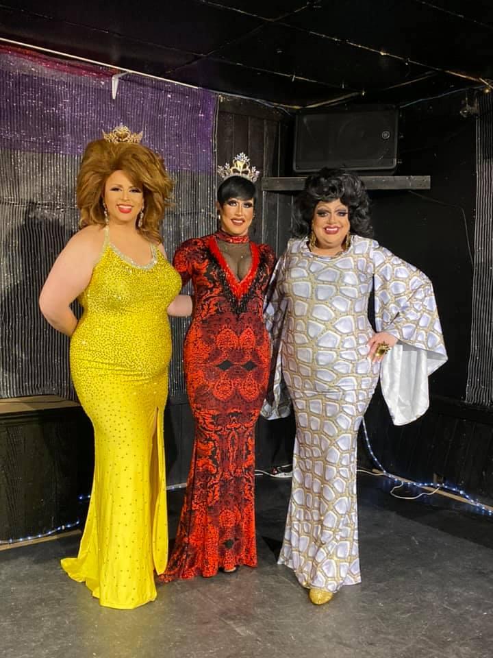 Tasha Salad, Courtney Kelly and TIna Hightower | Miss Gay Capital City America | Southbend Tavern (Columbus, Ohio) | 2/22/2020
