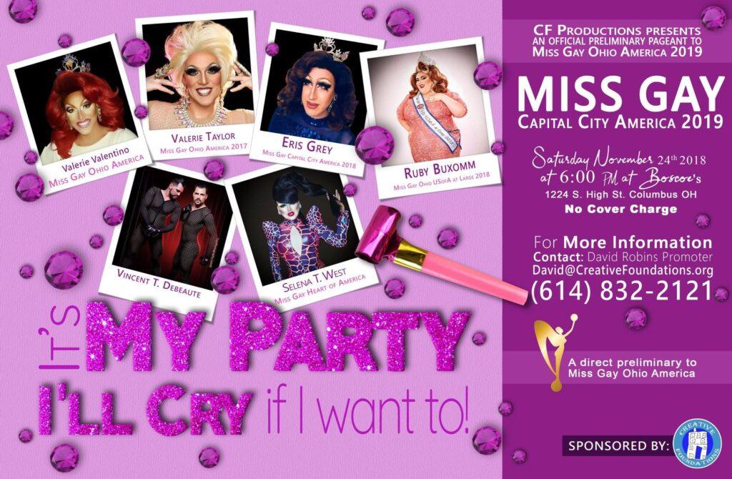Miss Gay Capital City America | Boscoe's (Columbus, Ohio) | 11/24/2018