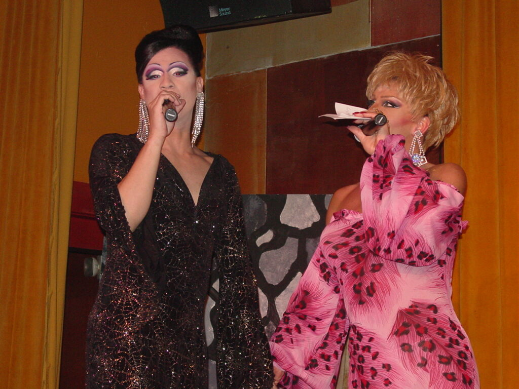 Andria Michaels and Maria Garrison | Miss Gay North USofA | Axis Nightclub (Columbus, Ohio) | Circa 2004