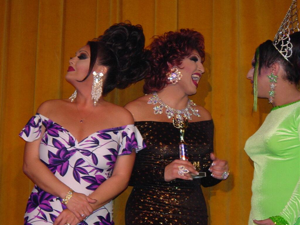 Maya Douglas, Virginia West and Sierra Seville | Miss Gay North USofA | Axis Nightclub (Columbus, Ohio) | Circa 2004