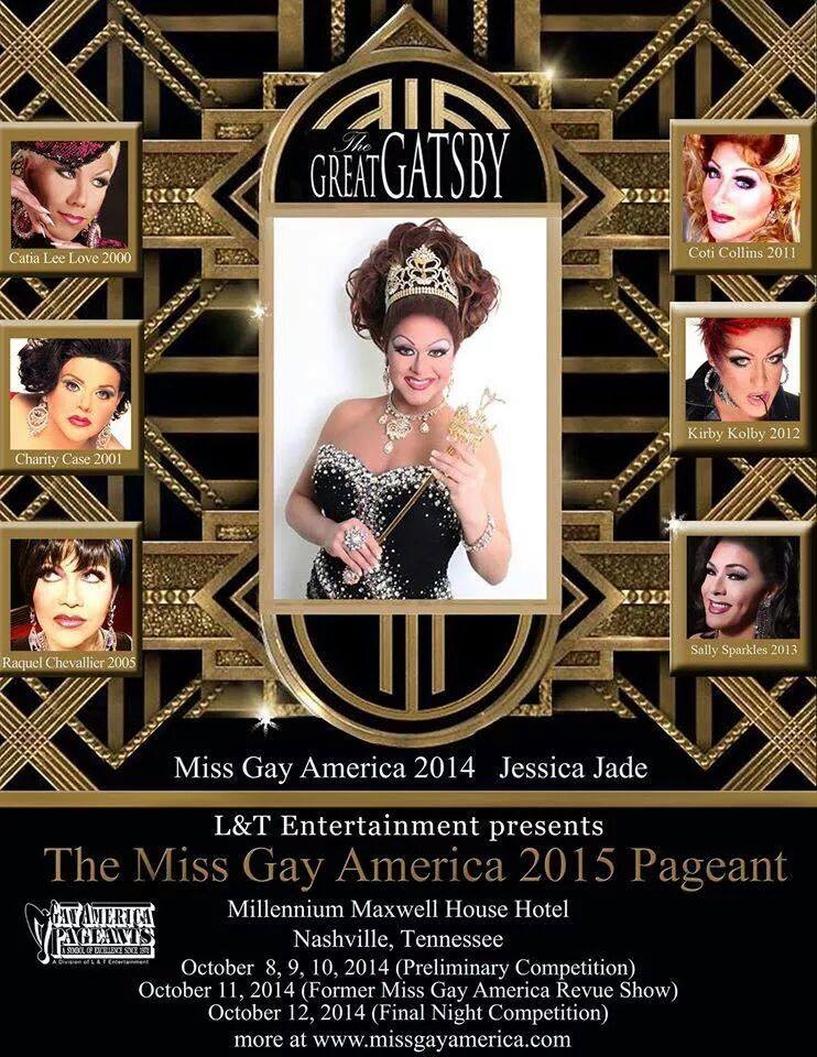 Ad | Miss Gay America | Millennium Maxwell House Hotel (Nashville, Tennessee) | 10/8-10/12/2014