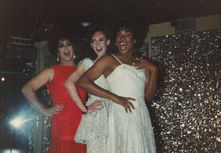 Tracy Adams, Misha Denuve and Nicole Ross performing in a production. | The Ruins (Indianapolis, Indiana) | 1982