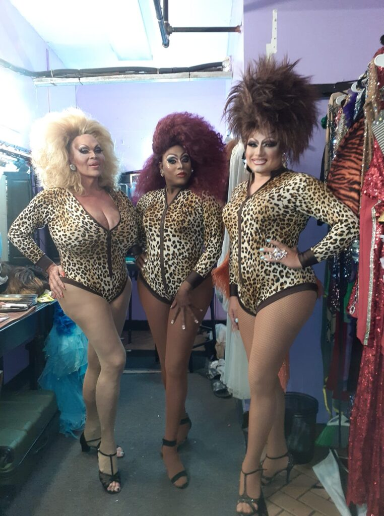 Dena Cass, Antwanette Chanel Roberts and Monica Moore | Hamburger Mary's (Clearwater, Florida) | July 2020