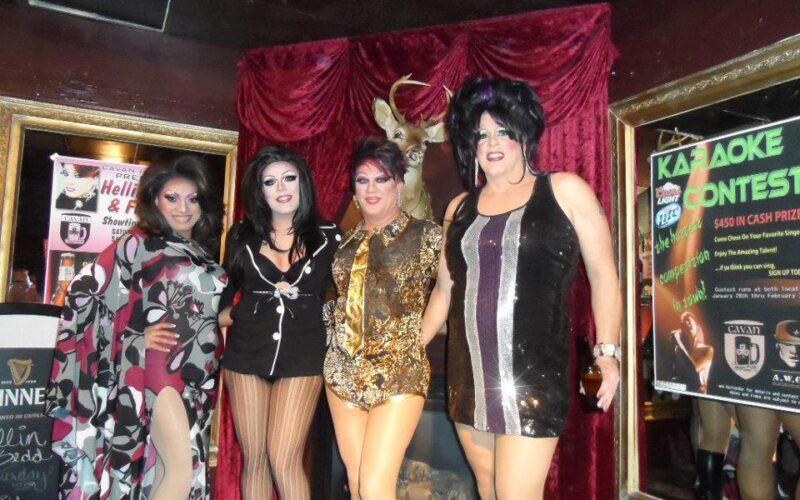 Sue Nami, Amourace Monroe, Hellin Bedd and Betty Cracker | Cavan Irish Pub (Columbus, Ohio) | March 2013