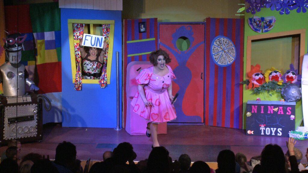 Virginia West (holding the Fun sign) and Nina West | Nina West's Playhouse | Axis Nightclub (Columbus, Ohio) | 3/25-4/2/2011