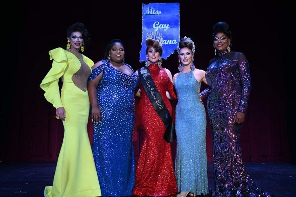 Sasha Michaels, Bella Shade, Ana Crusis, Kassia Brookes and Mahogany Charlotte | Miss Gay Indiana | Athenaeum Foundation (Indianapolis, Indiana) | 9/4-9/6/2019
