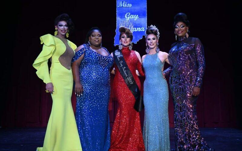 Sasha Michaels, Bella Shade, Ana Crusis, Kassia Brookes and Mahogany Charlotte   Miss Gay Indiana   Athenaeum Foundation (Indianapolis, Indiana)   9/4-9/6/2019