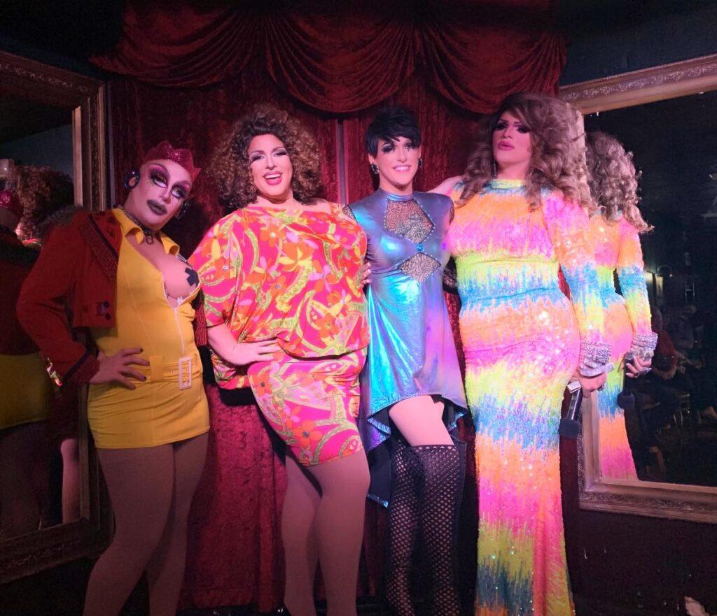 Tayanna Sins, Tasha Salad, Jennifer Lynn Ali and Ava Aurora Foxx | Cavan Irish Pub (Columbus, Ohio) | October 2019