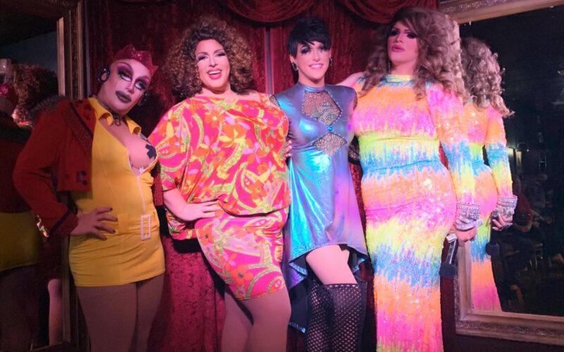 Tayanna Sins, Tasha Salad, Jennifer Lynn Ali and Ava Aurora Foxx   Cavan Irish Pub (Columbus, Ohio)   October 2019