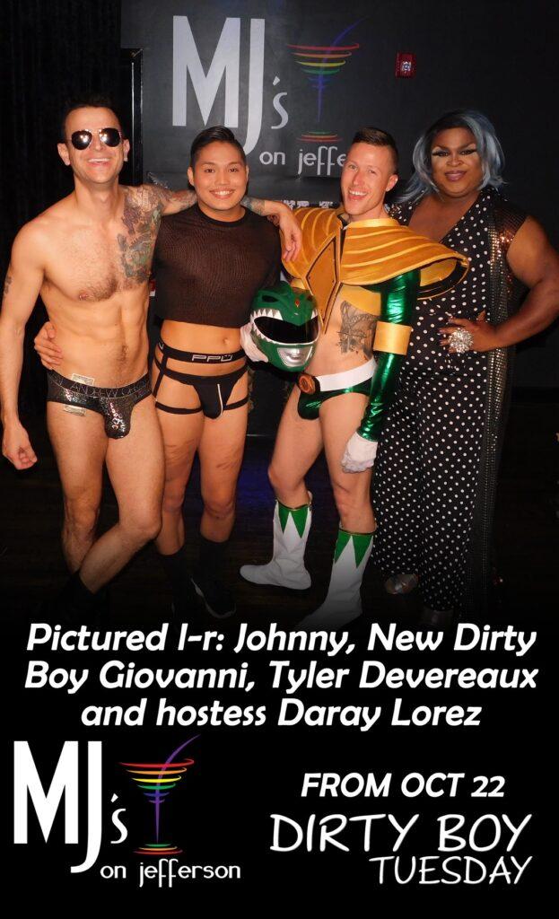 Johnny Dangerously, Giovanni, Tyler Devereaux and Daray Lorez   MJ's on Jefferson (Dayton, Ohio)   October 2019