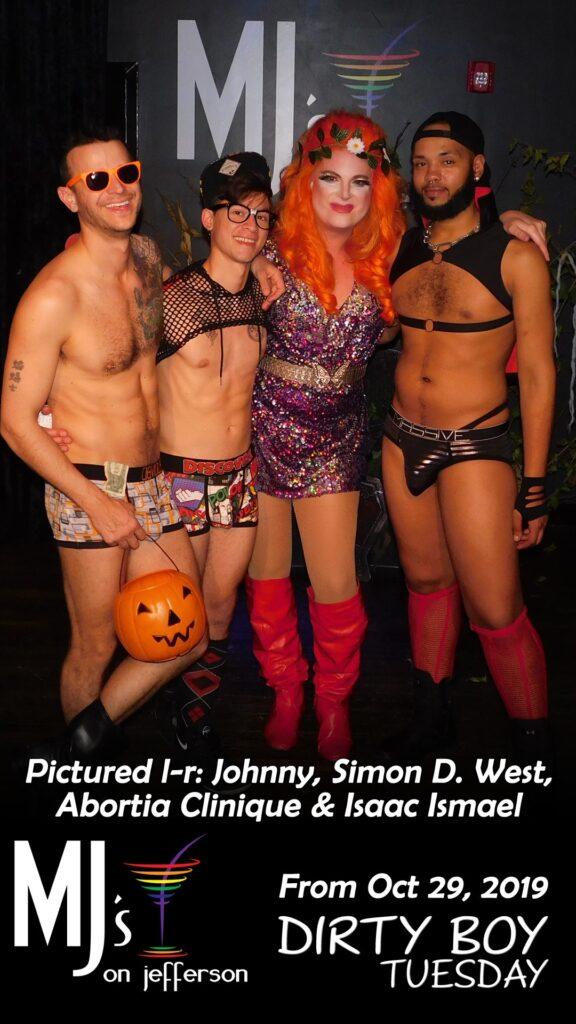 Johnny Dangerously, Simon Decardeza West, Abortia Clinique and Isaac Ismael   MJ's on Jefferson (Dayton, Ohio)   October 2019