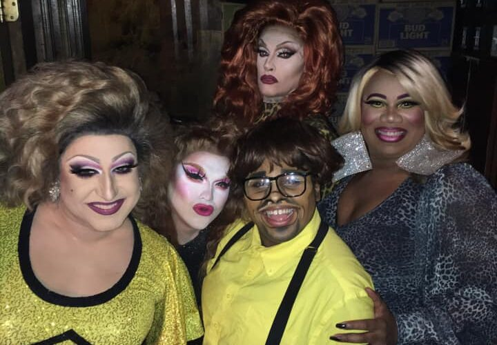 Back: Helena Troy; Font (Left to Right): Virginia West, Selena T. West, Riley Poppyseed and Vee Love | Union Cafe (Columbus, Ohio) | November 2019