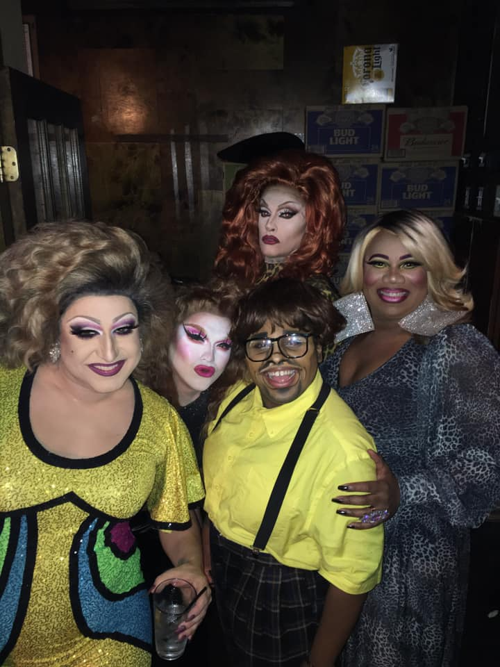 Back: Helena Troy; Font (Left to Right):  Virginia West, Selena T. West, Riley Poppyseed and Vee Love | Union Cafe (Columbus, Ohio) | November 2019