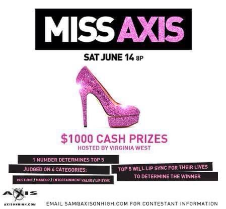 Ad | Miss Axis | Axis Nightclub (Columbus, Ohio) | 6/14/2014