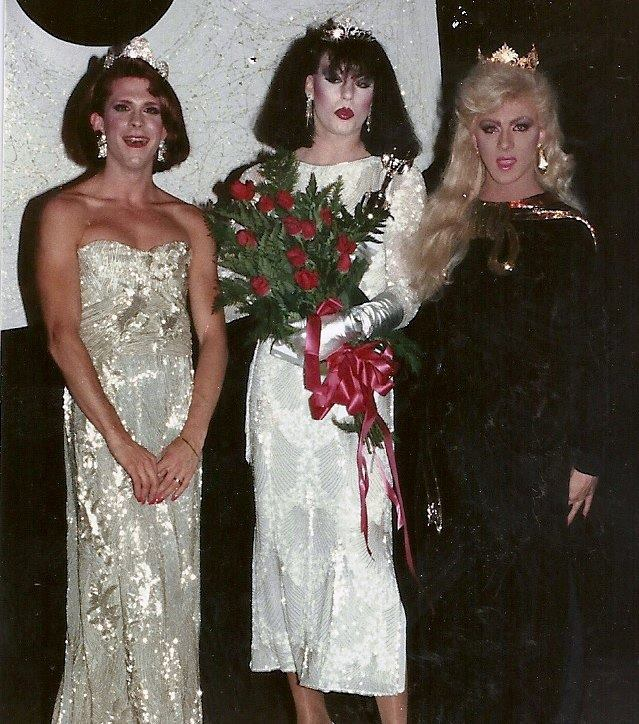 Jessica Houston, Diana Black and Tasha Kohl | Miss Gay Indiana America | Talbott Street (Indianapolis, Indiana) | Circa 1984
