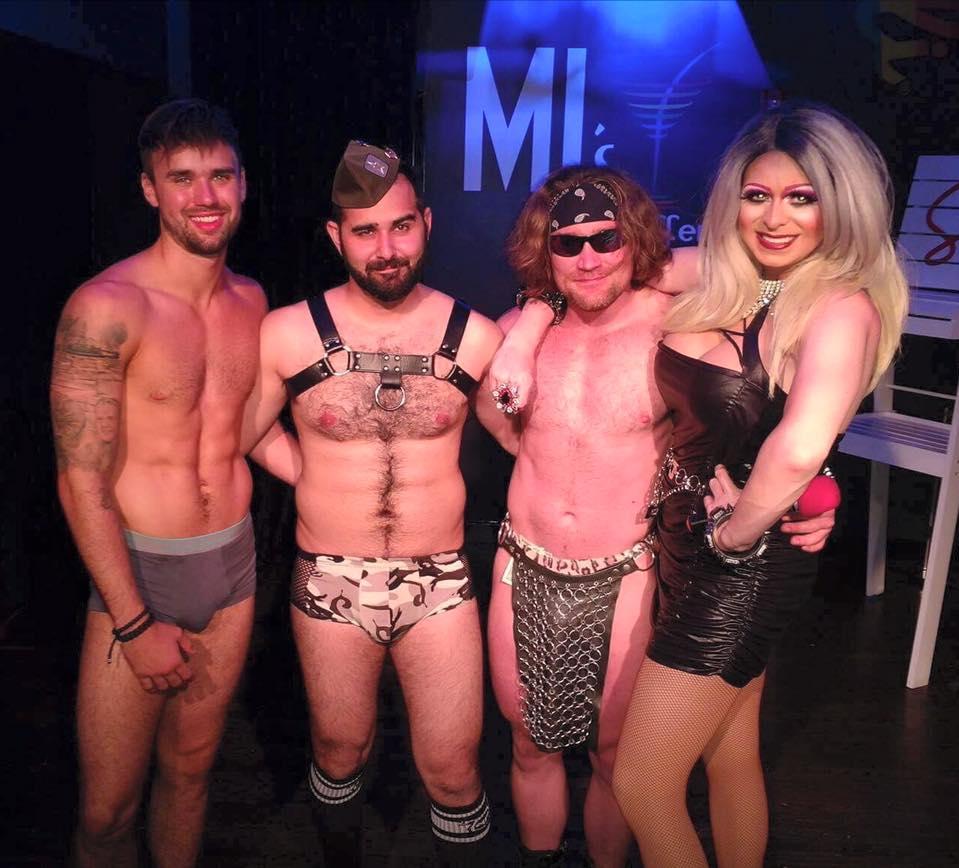 Tatum McDaniels, Andy Candy, Adonis Casanova and Jade Sexton   MJ's on Jefferson (Dayton, Ohio)   June 2017