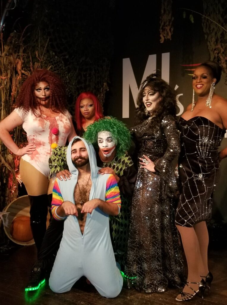 Back: Kisha Summers, Mahoganay Halsten Soule, Shampaine Austen Lee, Samantha Rollins and Alana Reign; Front: Andy Candy | MJ's on Jefferson (Dayton, Ohio) | October 2018