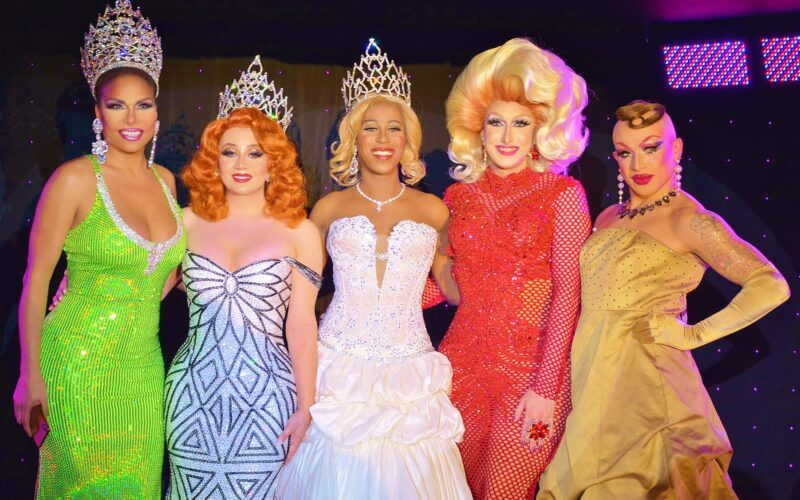 Janet Fierce Andrews, Ivy League, Qya Cristál, Buffy Halliwell and Pristine Christine | Miss Gay Massachusetts USofA | Crown & Anchor (Provincetown, Massachusetts) | 4/14/2019