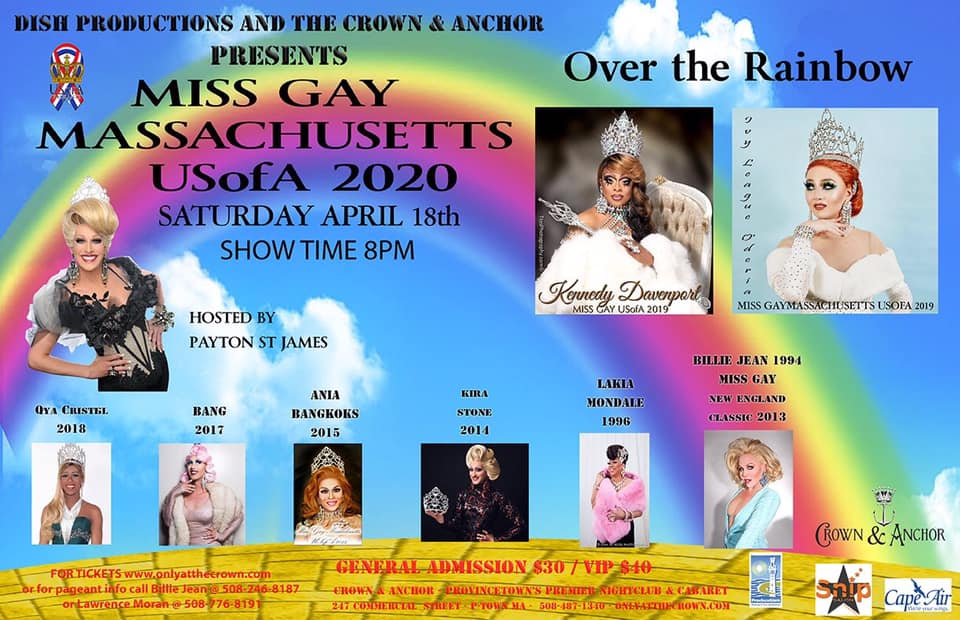 Ad | Miss Gay Massachusetts USofA | The Crown & Anchor (Provincetown, Massachusetts) | 4/18/2020