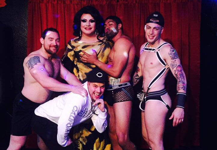 Back: Adonis Casanova, Misty Phoenix St. James, Dominic Casanova and Gunner Scout; Front: Zach Clark Matthews | Toolbox Saloon (Columbus, Ohio) | September 2017