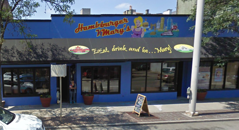 This building here at 909 Vine Street in Cincinnati, Ohio was once the home to Hamburger Mary's and Roxy's. This is as it appeared in a August 2009 Google Street View capture.