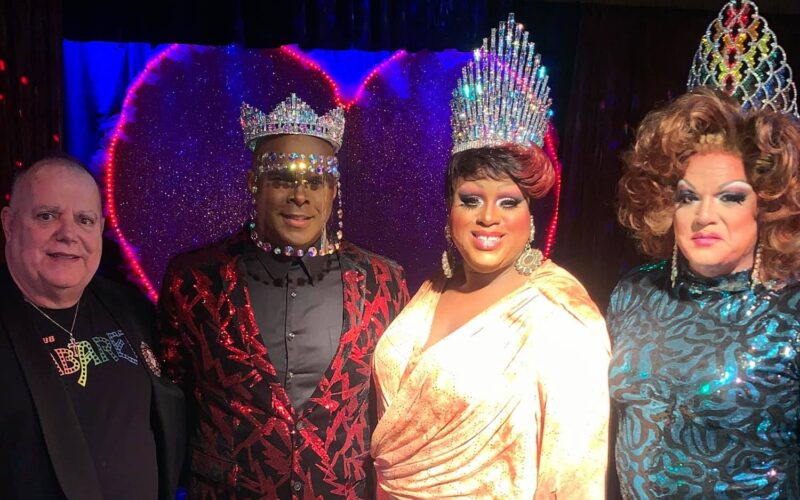 Jeff Reeves, Taylor Knight Addams St. James, Cierra Desire Nichole and Connie Conover | Miss Cabaret Valentine and Mr. Cabaret Valentine | Club Cabaret (Hickory, North Carolina) | 2/14/2021 cropped