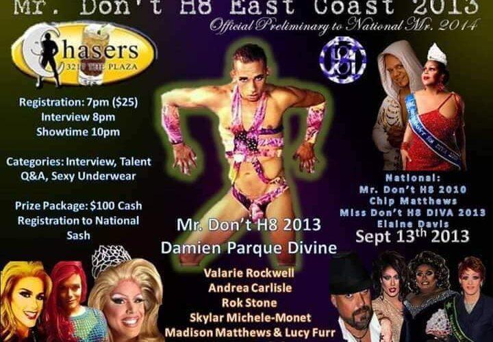 Ad | Mr. Don't H8 East Coast | Chasers (Charlotte, North Carolina) | 9/13/2013
