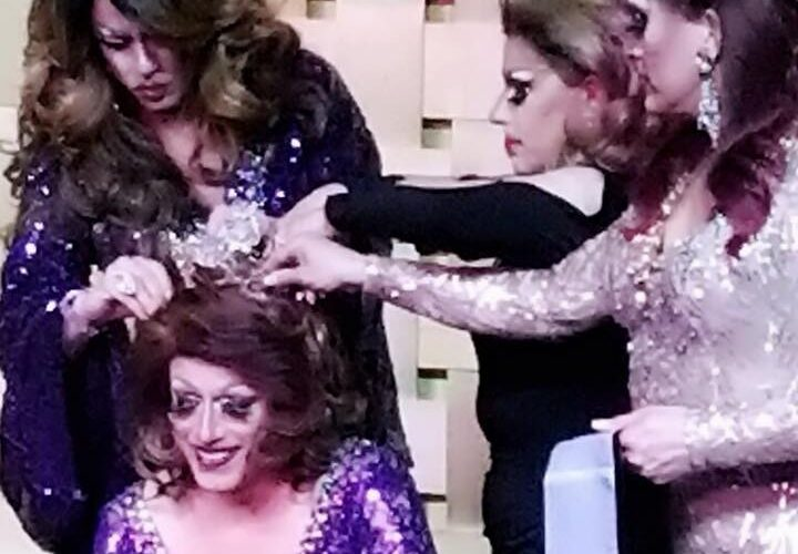 Mary Nolan being crowned the new Miss Gay Buckeye America 2018 by Deva Station, Blair Williams and Kirby Kolby   Miss Gay Buckeye America   Axis Nightclub (Columbus, Ohio)   3/18/2018