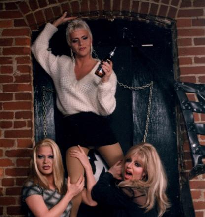 Missy Marlo, Amanda Kayne and Brazon at the Garage in Columbus, Ohio. cropped